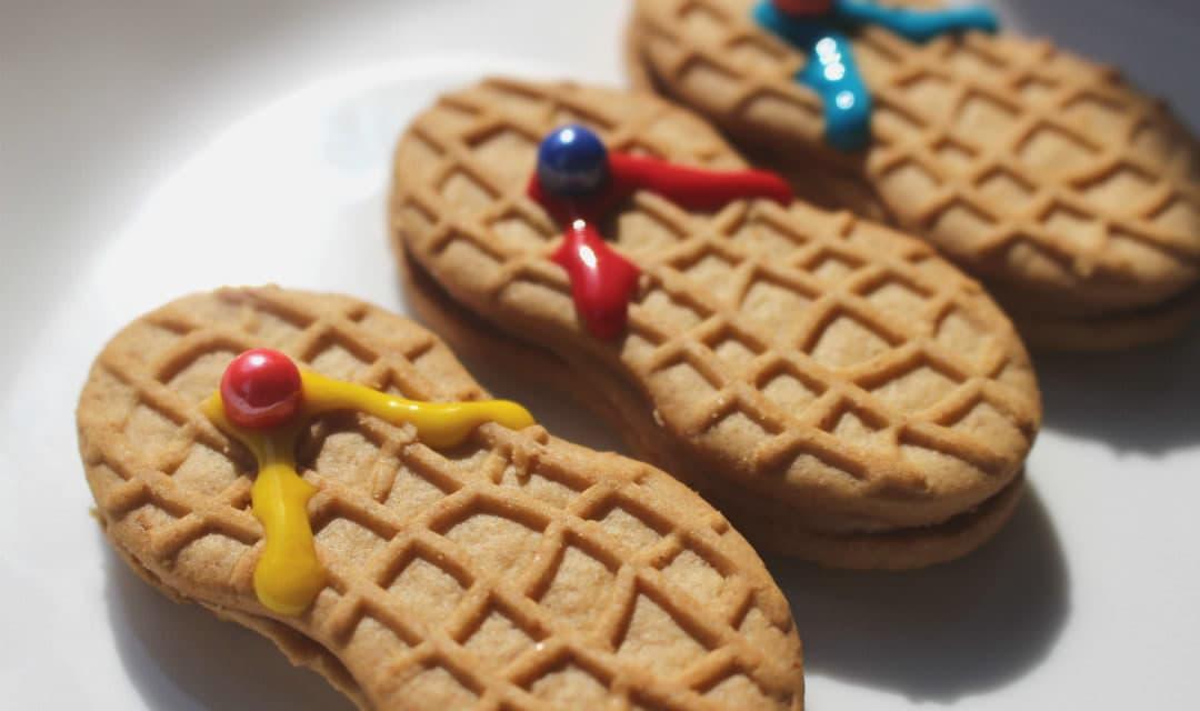 Nutter Butter Flip Flop Cookies