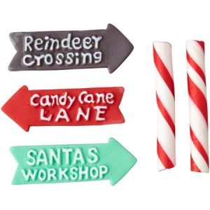 Wilton Candy Cane Sticks and Signs