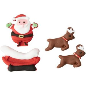 Wilton Santa and Reindeer Candy Decorations